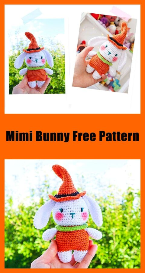 Halloween character mimi bunny amigurumi free pattern