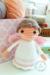 Little angel amigurumi doll free crochet pattern with white dress