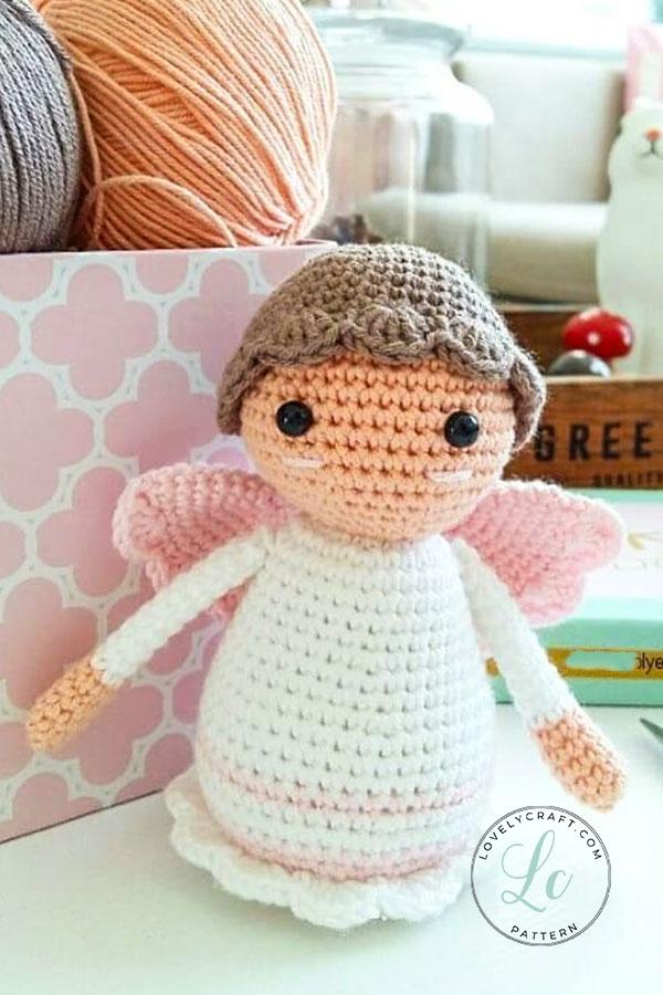 Little angel amigurumi doll free crochet pattern
