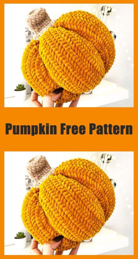 Halloween Orange Plush Pumpkin Crochet Free Pattern