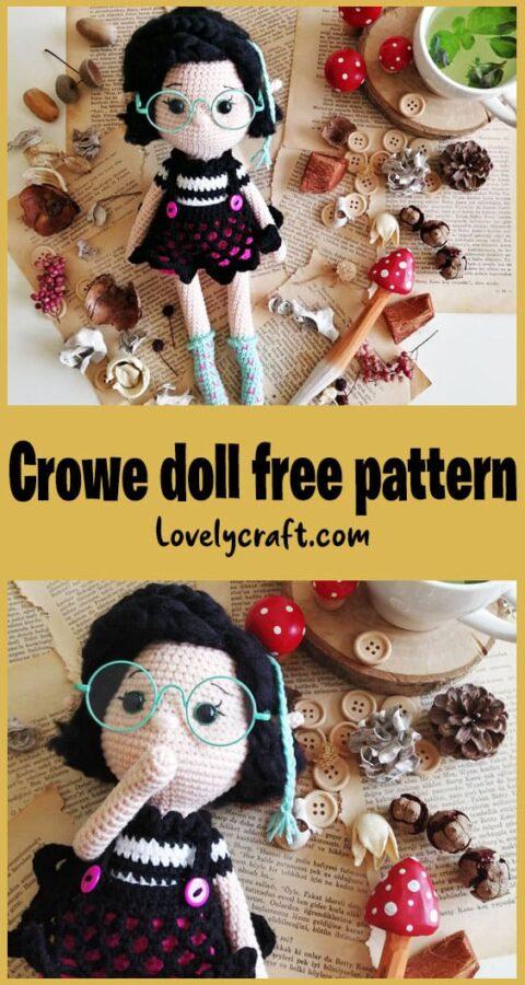 Crove Girl Doll amigurumi free crochet pattern
