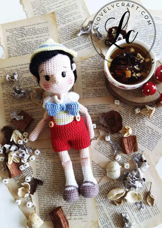 Crochet Pinocchio Amigurumi Doll Pattern (1)