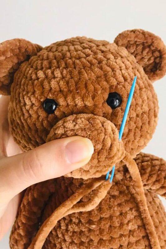 Stuffed Teddy Bear Free Amigurumi Crochet Pattern