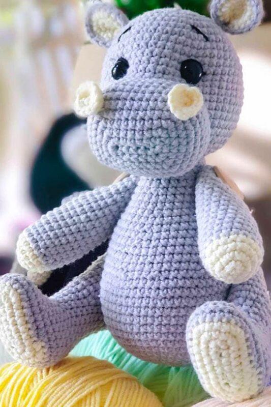 Bebé hipopótamo Amigurumi Patrón Gratis