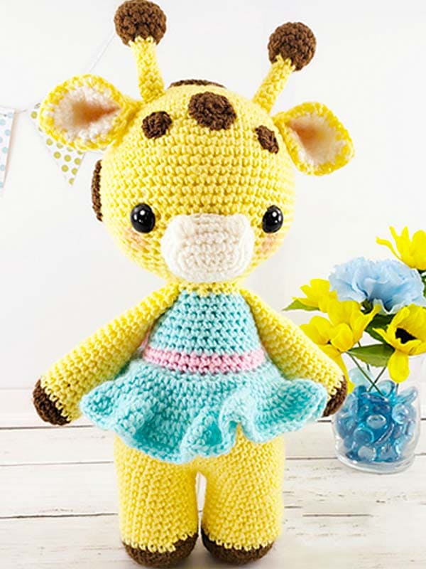 Amelia The Giraffe Amigurumi Free Crochet Pattern 3