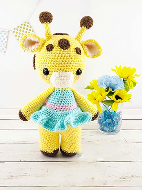 Amelia The Giraffe Amigurumi Free Crochet Pattern 4