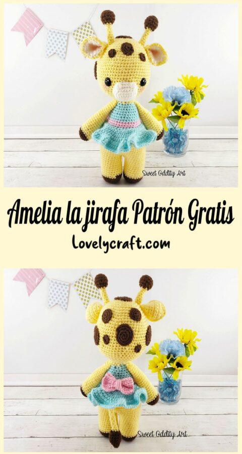 Amelia la jirafa fácil Amigurumi Patrón Gratis