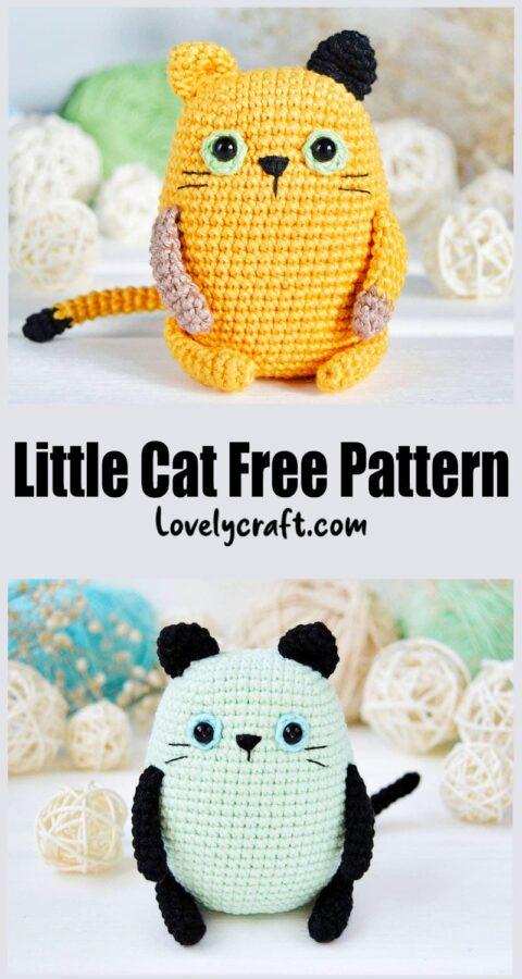 Little Cat Amigurumi Crochet Free Pattern