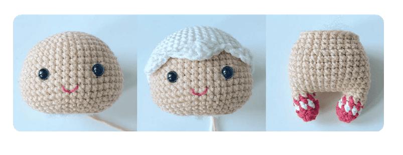 Mini GingerBread head and arm pattern