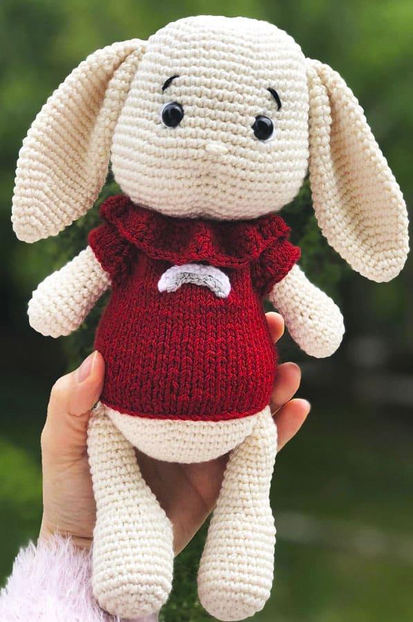 Ponchino Little Bunny Free Crochet Pattern (1)