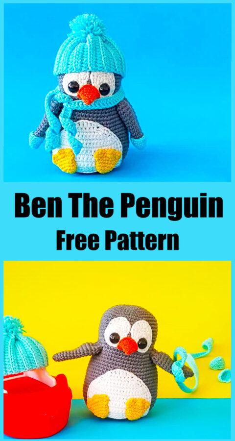 ben the penguin free pattern, penguin toy, penguin amigurumi pattern
