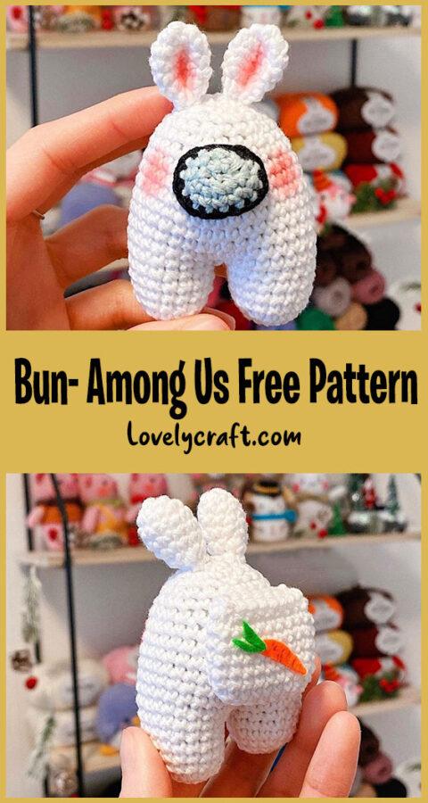Bun- Among Us Amigurumi Free Crochet Pattern