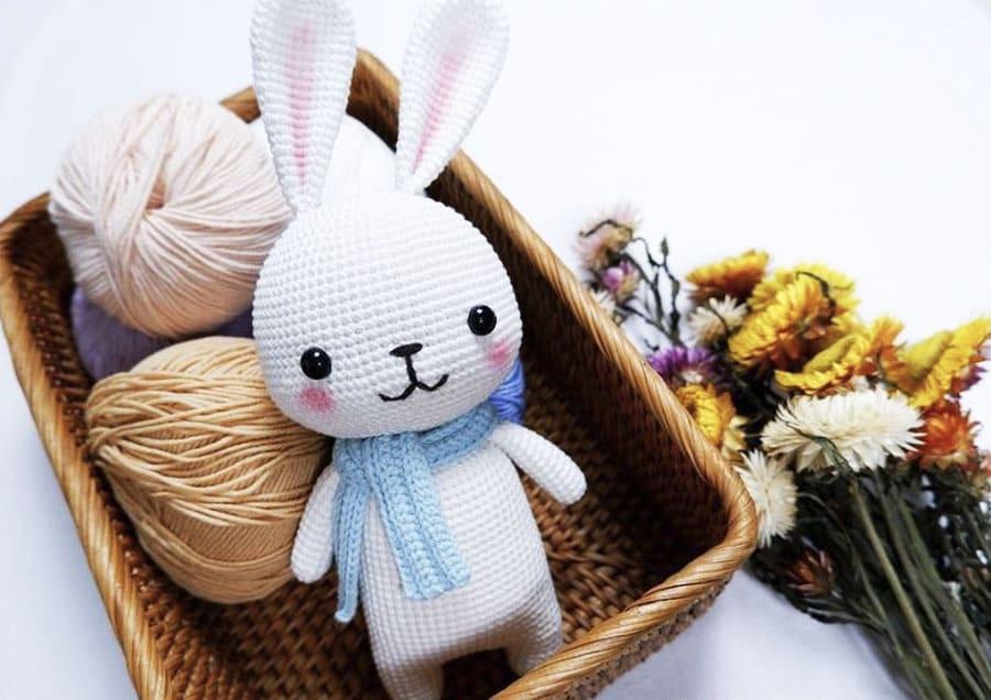 Little Cute Easy White Bunny Amigurumi Free Crochet Pattern