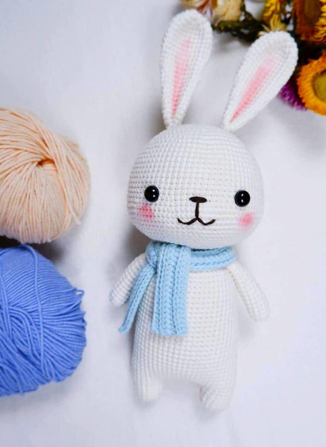 Little White Bunny Amigurumi Crochet Pattern