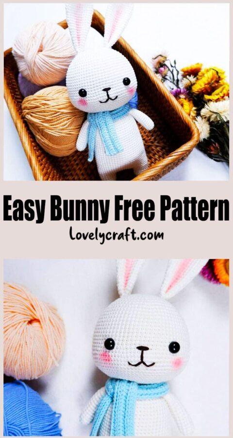 Easy White Bunny Amigurumi Crochet Pattern