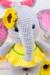 elephant, flower, eyes