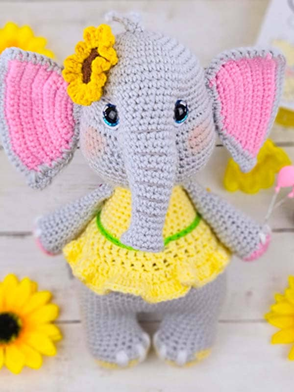 elephant, flower, gift