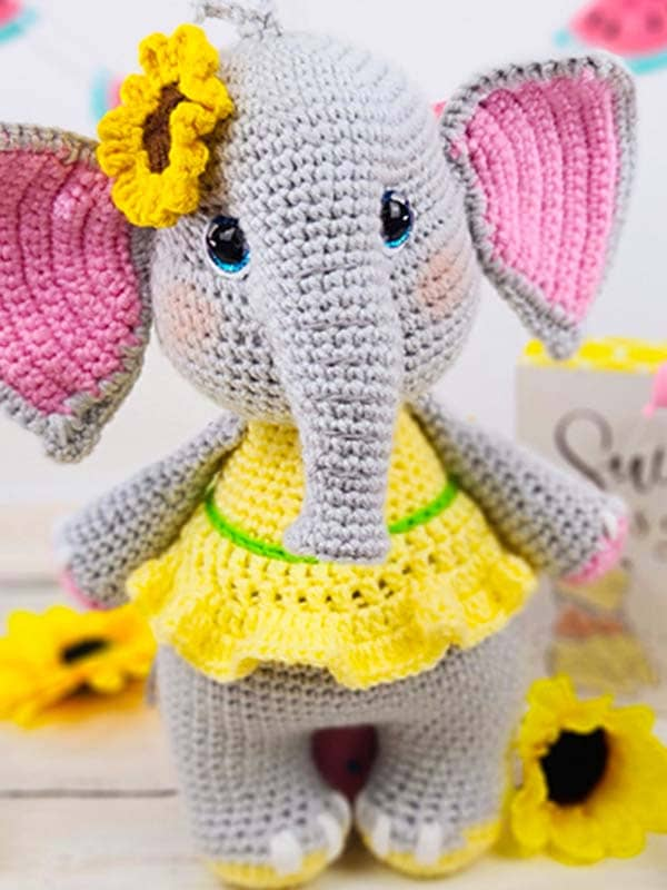 elephant, flower, skirt