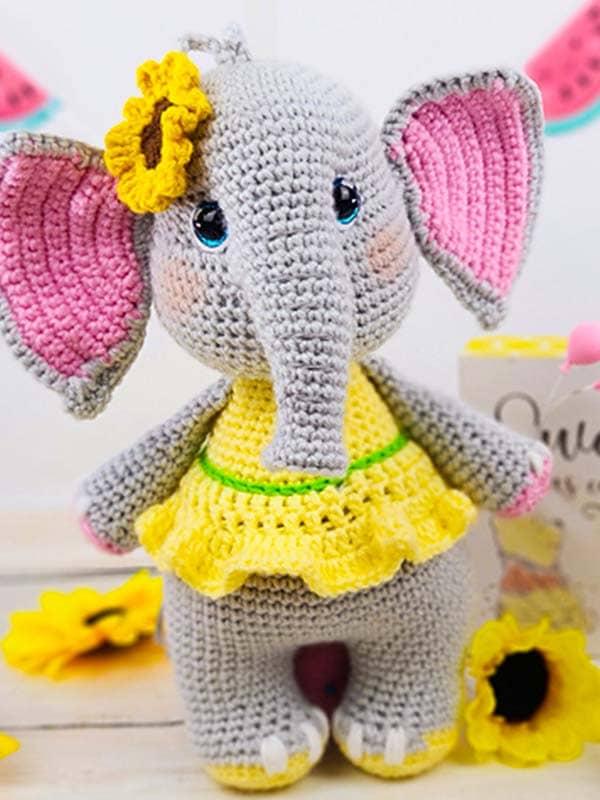 elephant, flower