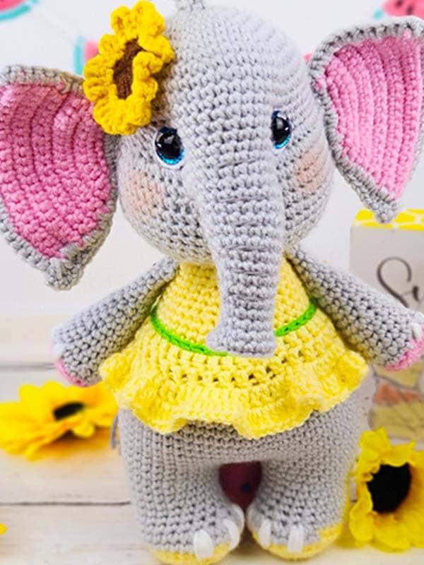 elephant, sunflower