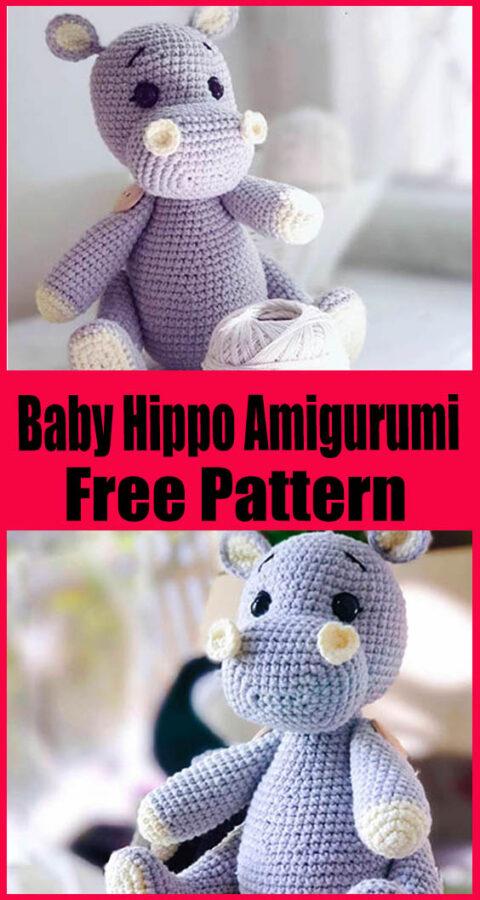 Baby Hippo Amigurumi Free Crochet Pattern