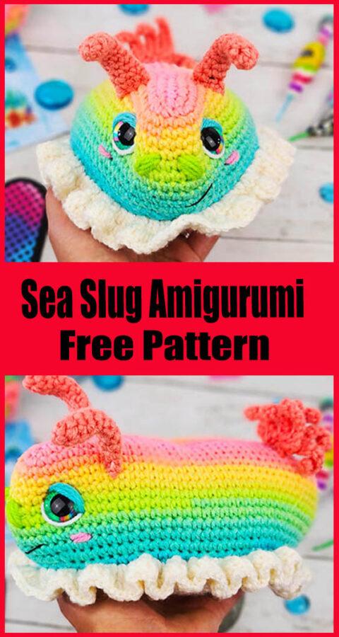 Rainbow Sea Slug Free Amigurumi Crochet Pattern