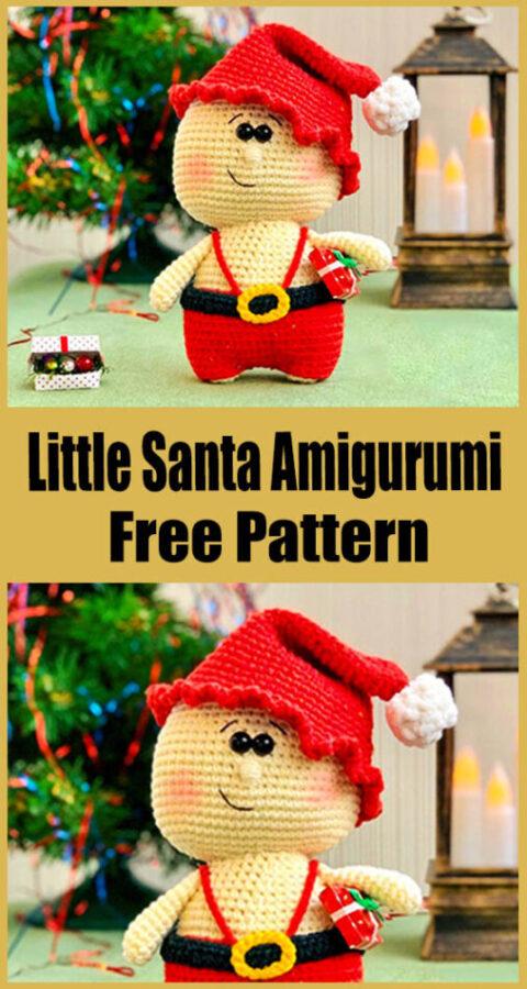 Little Santa Amigurumi Free Crochet Pattern