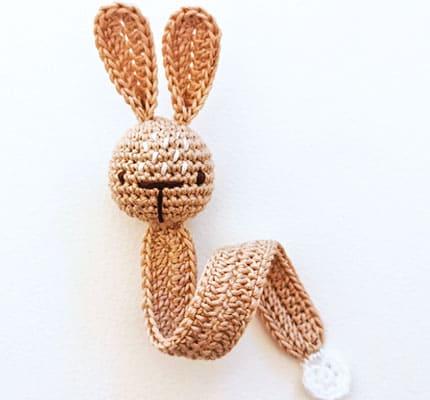 Simple bunny bookmark Free Crochet Pattern, bookmark Crochet Pattern