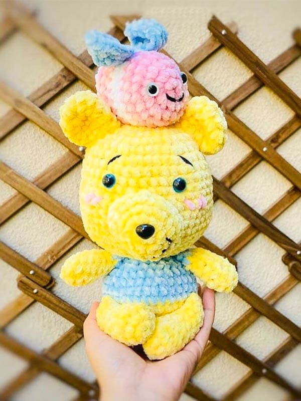honey cute bear amigurumi crochet pattern