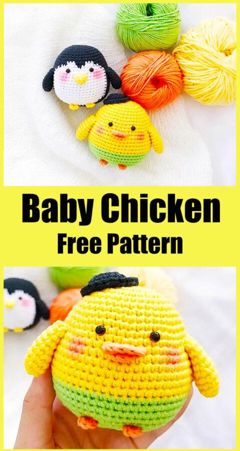 Easy Baby Chicken Amigurumi Crochet Pattern