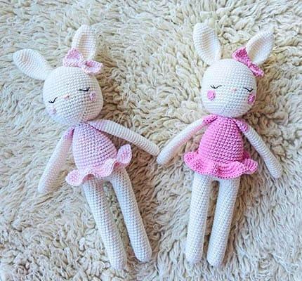 pretty rabbit, bunny amigurumi pattern, dress rabbit amigurumi pattern