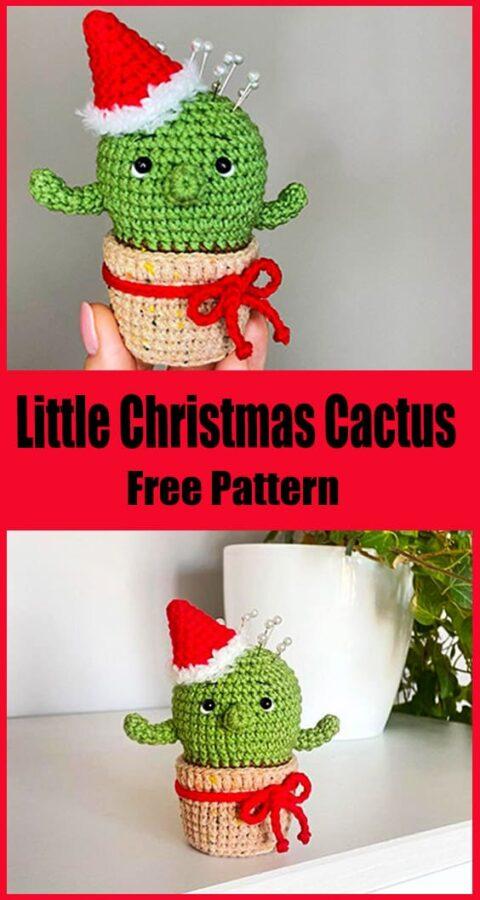 Pequeño Cactus de Navidad Amigurumi Patrón gratis