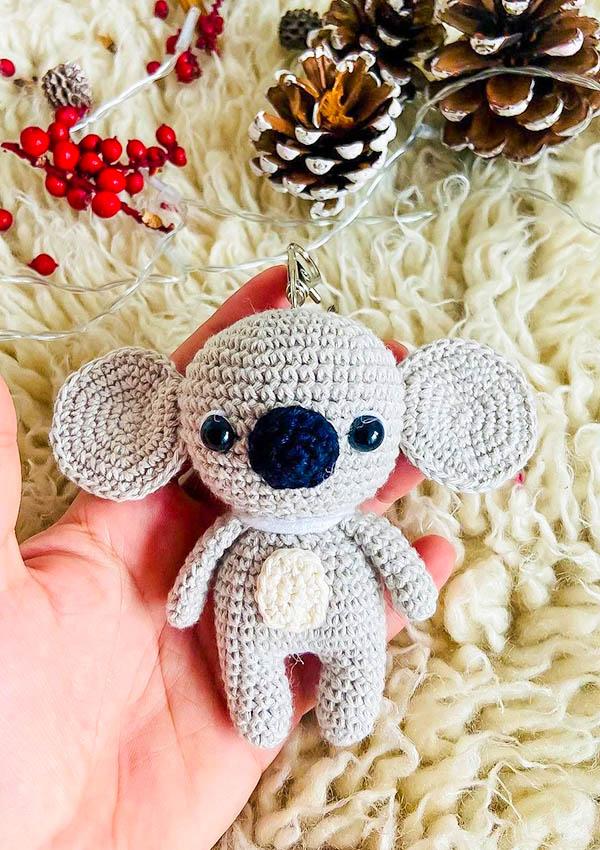Koala Keychain free amigurumi pattern