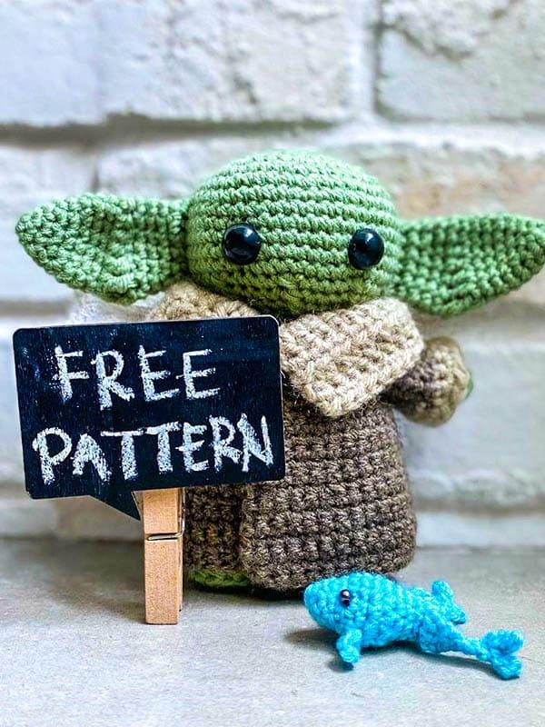 Baby Yoda Amigurumi Crochet Free Pattern