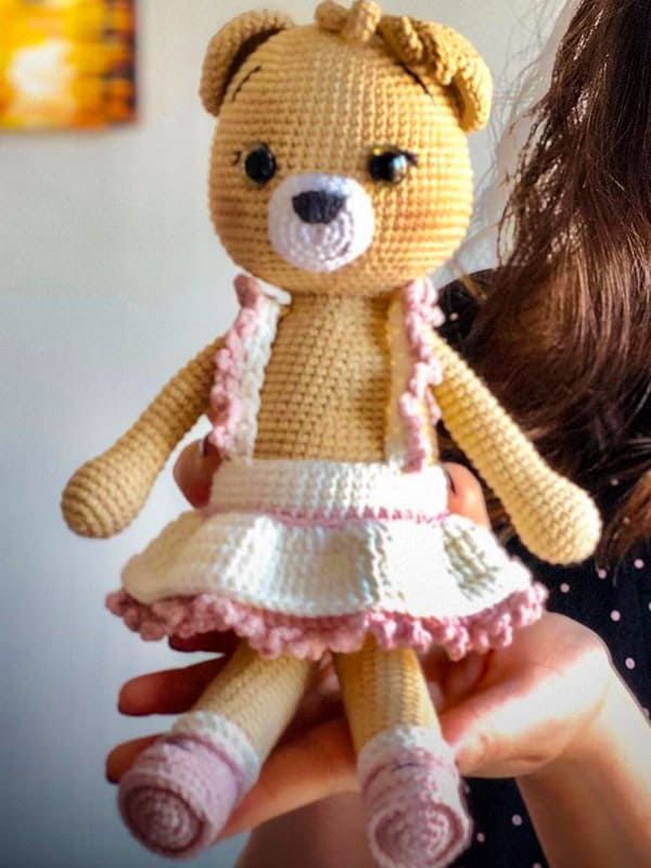 Berry Bear Amigurumi Crochet Pattern