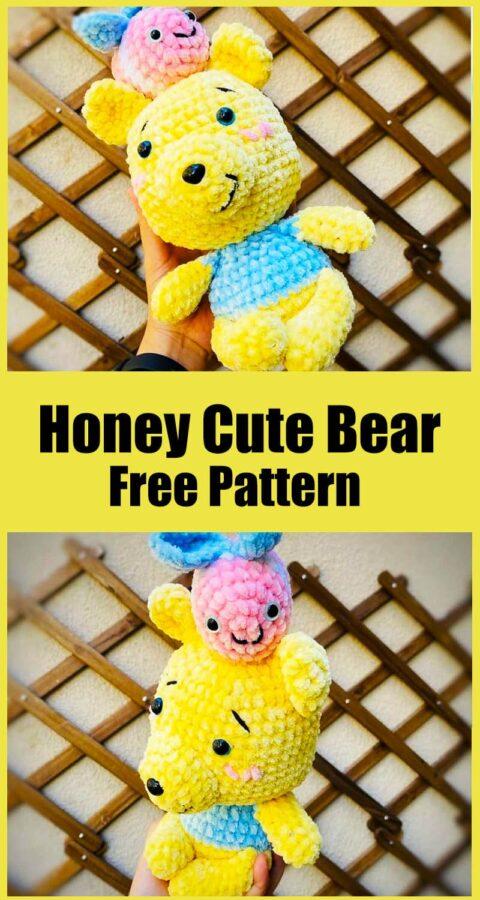 Honey Cute Bear Amigurumi Pattern