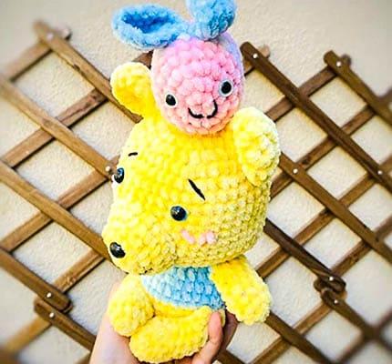 honey cute bear amigurumi crochet pattern, bear amigurumi pattern