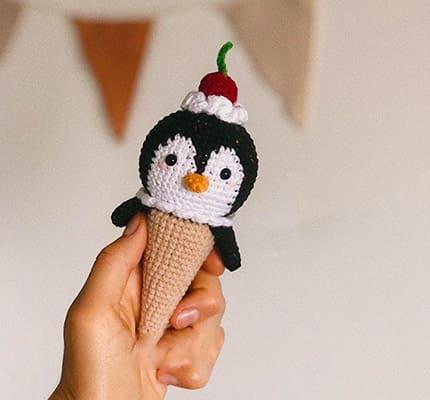Penguin Ice Cream Amigurumi Crochet Pattern