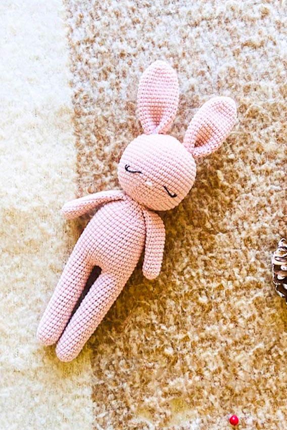 pinky bunny amigurumi pattern, bunny amigurumi free crochet pattern