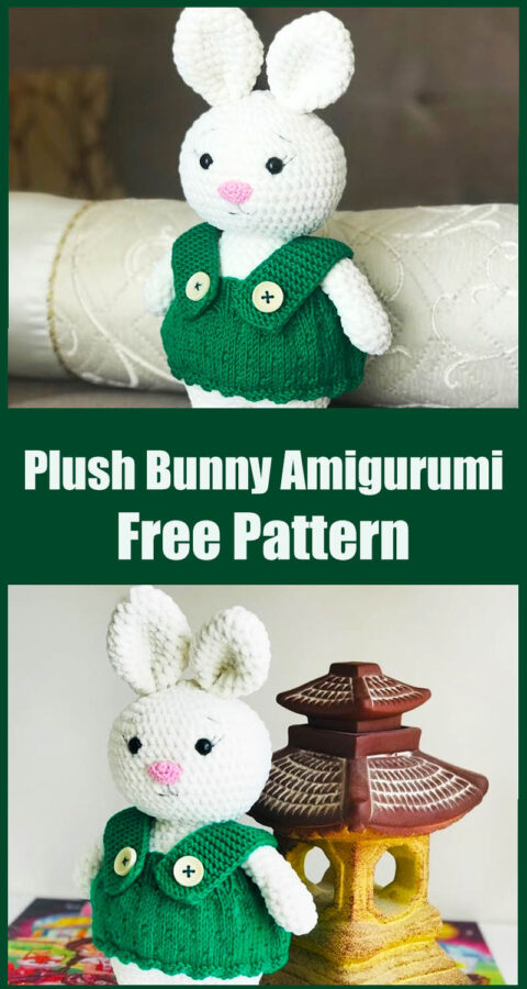 Plush Bunny with Summer Dress Amigurumi Pattern