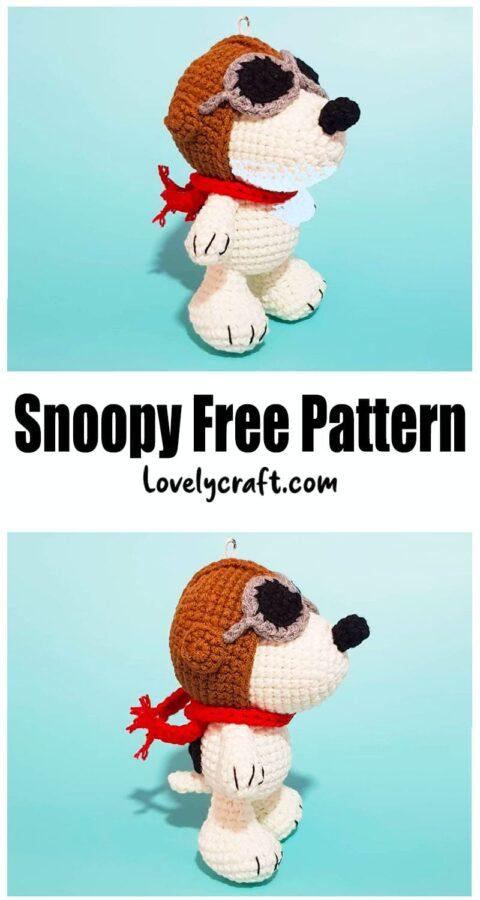 Snoopy Dog Amigurumi Free Crochet Pattern
