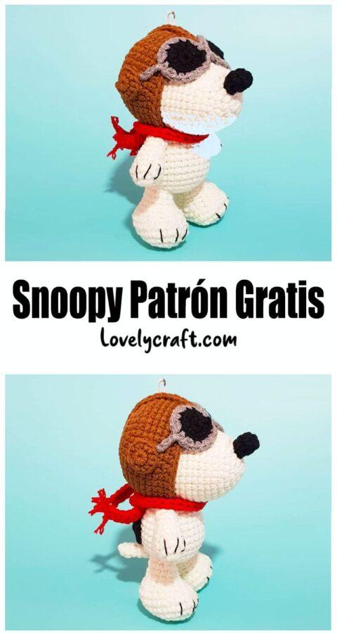 Snoopy Perro Amigurumi Patrón de ganchillo gratis