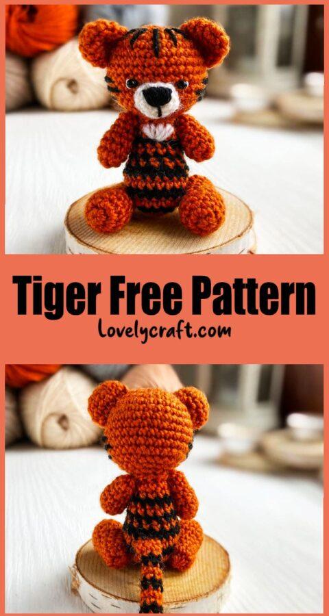 Tiny Tiger Amigurumi Crochet Free Pattern