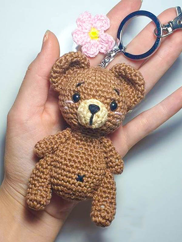bear amigurumi keychain, amigurumi keychain free pattern