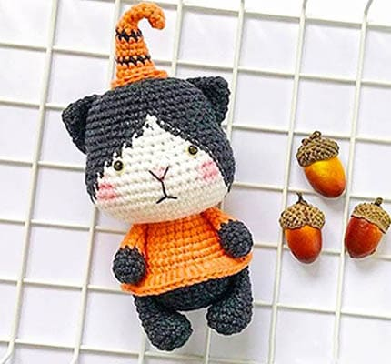 Pumpkin Cat Amigurumi Free Crochet Pattern, halloween amigurumi patterns