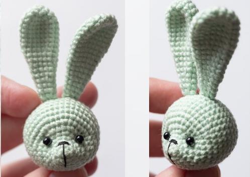 Cute Keychain Bunny Amigurumi Crochet Pattern