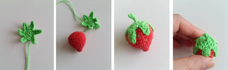 Strawberry Fairy Muig Amigurumi Crochet Pattern Strawberry Hat