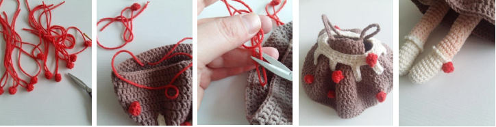 Strawberry Fairy Muig Amigurumi Crochet Pattern Little Balls (Make 12)