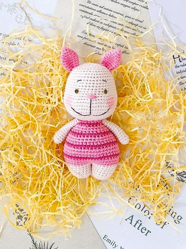 Baby Piglet Amigurumi Crochet Pattern