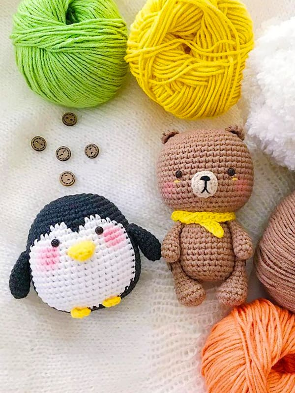 Baby Teddy Amigurumi Crochet Pattern